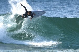 Cooper Chapman riding the FRSQ Heritage surfboard